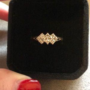 1/4 ct gold diamond ring
